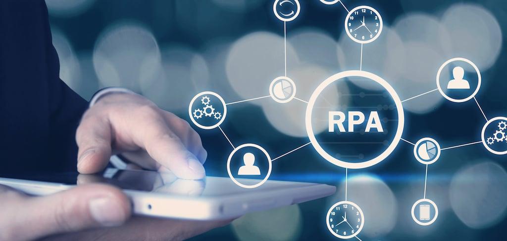 Canva - RPA-Robotic Process Automation. Technology concept